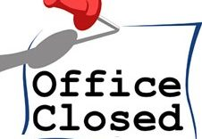 2017 Summer Hours – Office Closed Dates